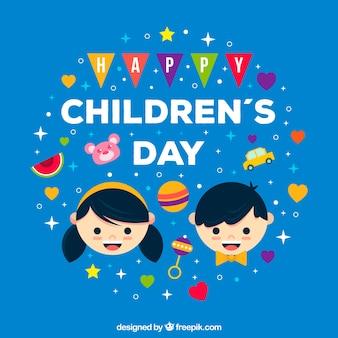 Fundo plano do dia das crianças