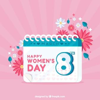 Fundo plano do dia das mulheres