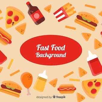 Fundo plano fast food