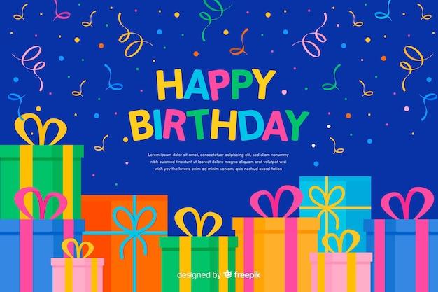 Fundo plano feliz aniversário