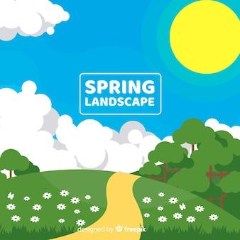 Fundo plano floral primavera