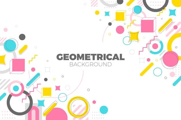 Fundo plano geométrico Vetor grátis