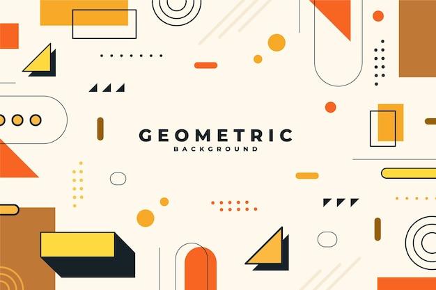 Fundo plano geométrico