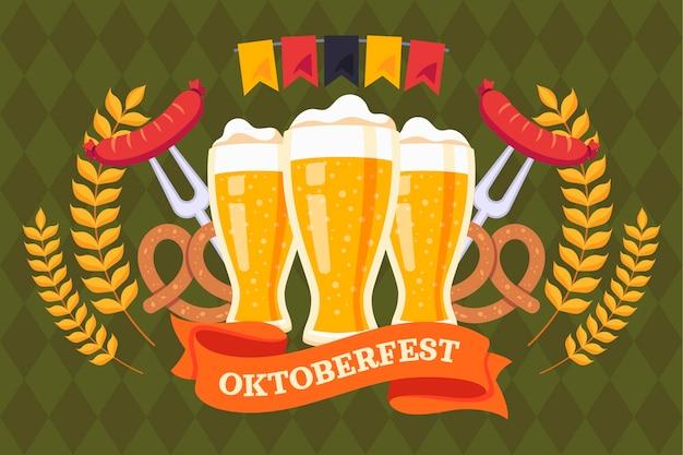 Fundo plano oktoberfest