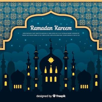 Fundo plano ramadan