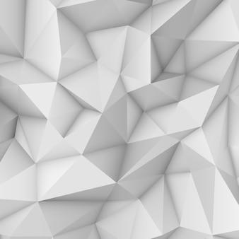 Fundo poligonal abstrato branco