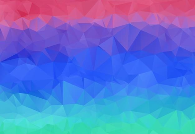 Fundo poligonal abstrato brilhante do céu do pôr do sol