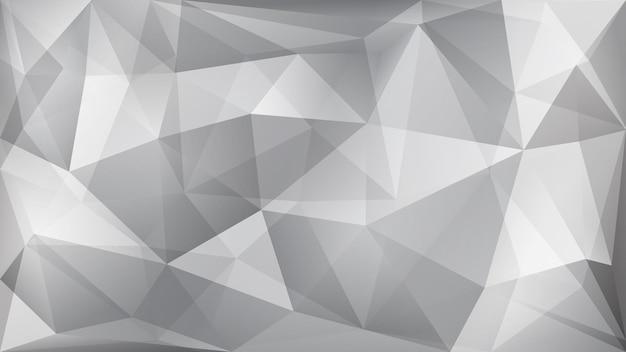 Fundo poligonal abstrato de muitos triângulos nas cores branco e cinza