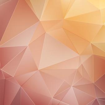 Fundo poligonal abstrato de ouro