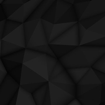 Fundo poligonal abstrato preto