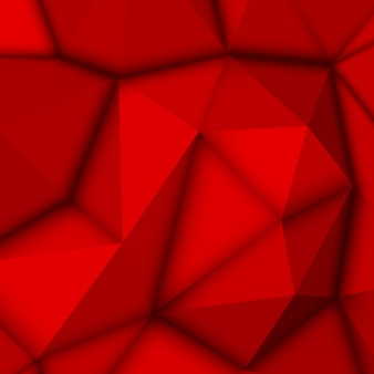 Fundo poligonal abstrato vermelho