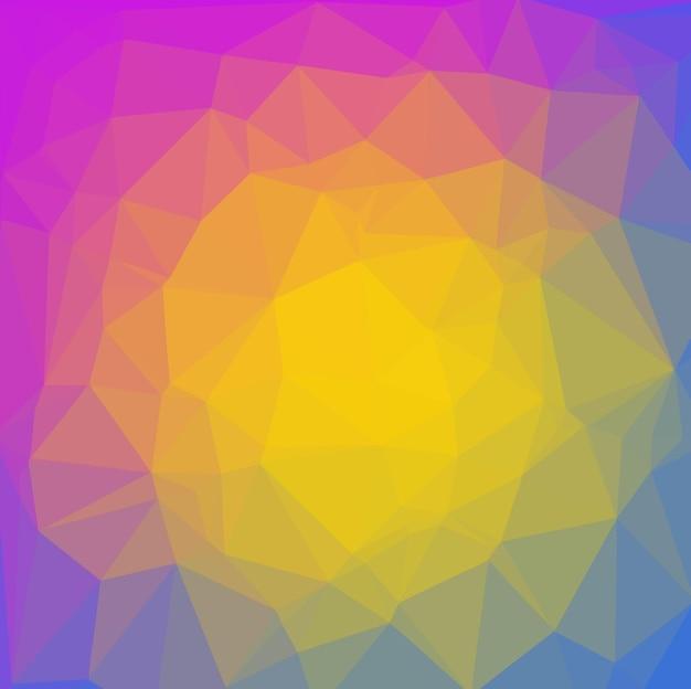 Fundo poligonal amarelo e azul brilhante