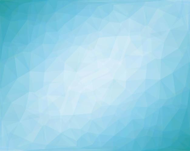 Fundo poligonal azul com linha