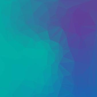 Fundo poligonal azul e menta