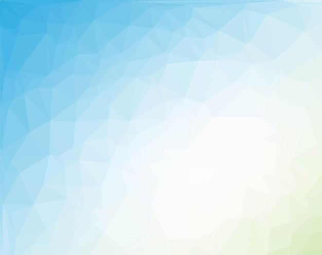 Fundo poligonal azul e verde