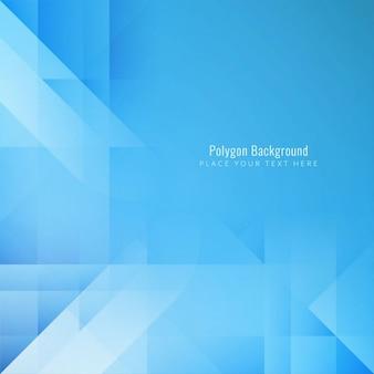 Fundo poligonal azul elegante