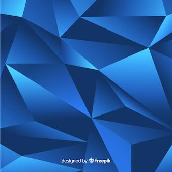 Fundo poligonal azul escuro
