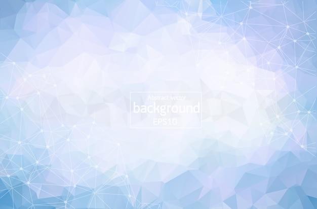 Fundo poligonal azul geométrico