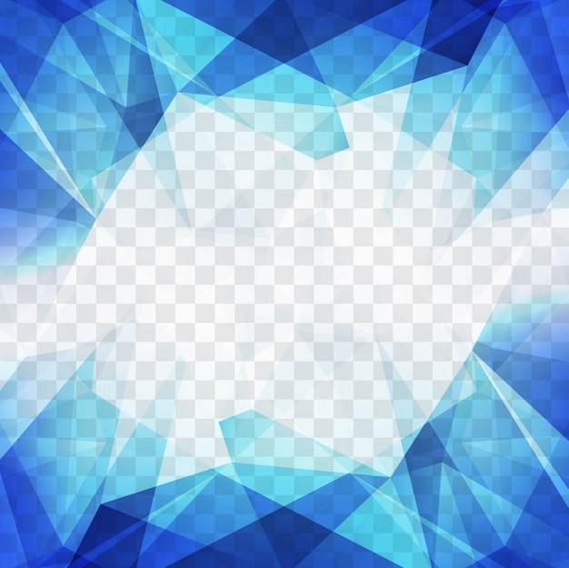 Fundo poligonal azul moderno