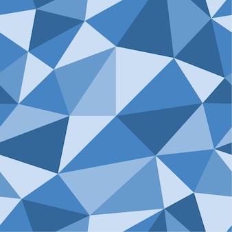 Fundo poligonal azul. padrão geométrico sem emenda. triângulos azuis. modelo de baixo poli. textura de cristal. ilustração eps10 do vetor.