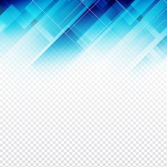 Fundo poligonal azul transparente abstrato