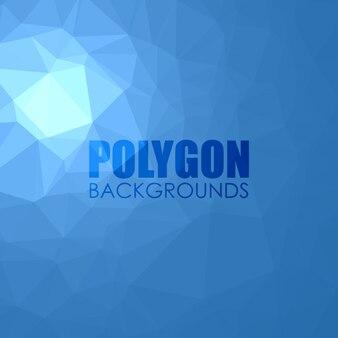 Fundo poligonal azul