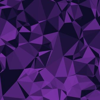 Fundo poligonal brilhante em roxo e violeta tons de berinjela