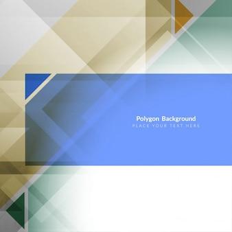 Fundo poligonal cinza com tiras coloridas