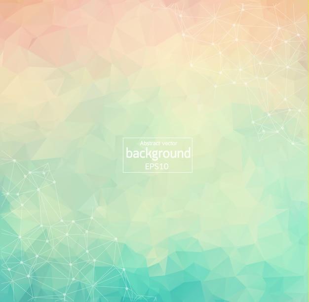 Fundo poligonal colorido geométrico