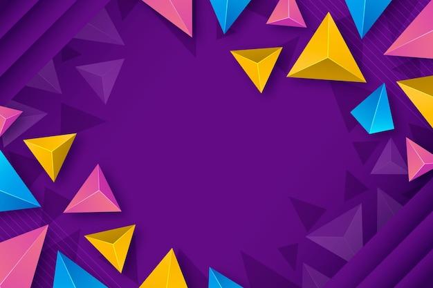 Fundo poligonal colorido realista
