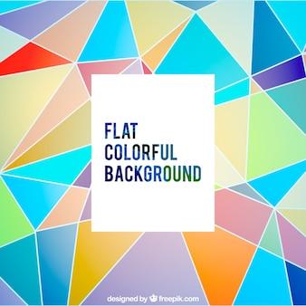 Fundo poligonal colorido