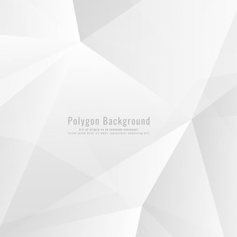 Fundo poligonal de cor cinza brilhante abstrata