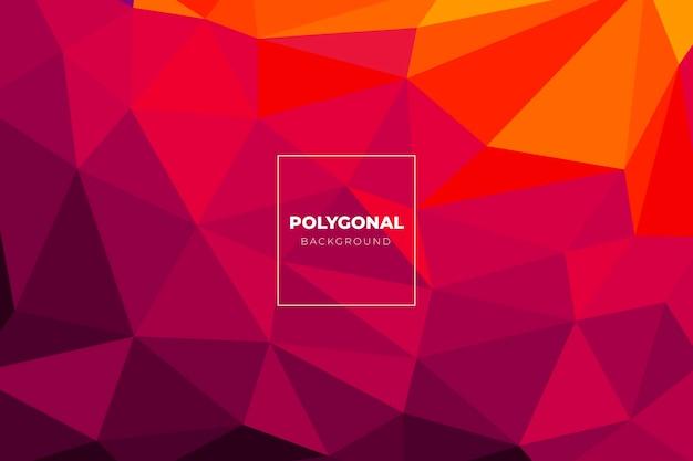 Fundo poligonal de design plano