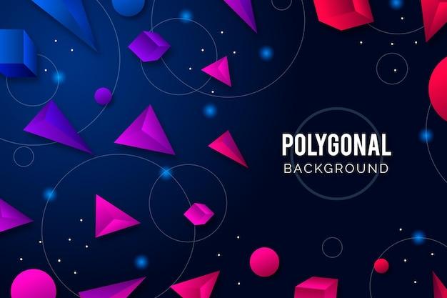 Fundo poligonal de estilo realista