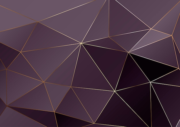 Fundo poligonal de luxo