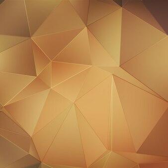 Fundo poligonal de ouro