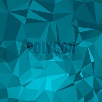 Fundo poligonal de tons do oceano