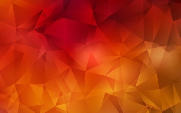 Fundo poligonal do vetor vermelho escuro abstrato.
