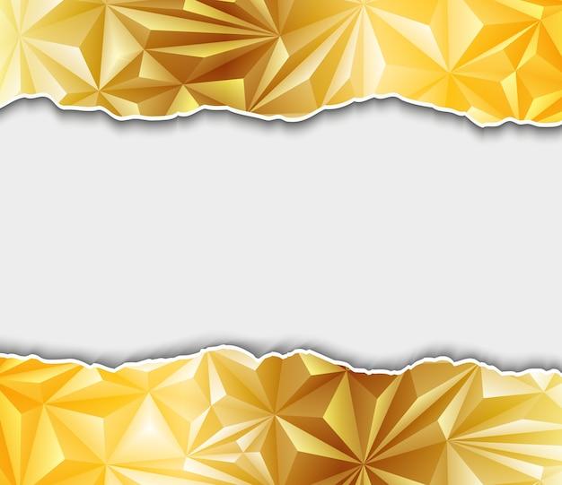 Fundo poligonal dourado abstrato
