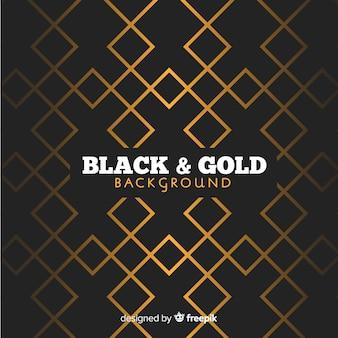Fundo poligonal dourado