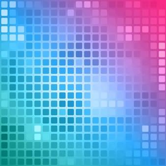 Fundo poligonal em tons de rosa e azuis com quadrados