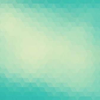 Fundo poligonal em tons turquesa