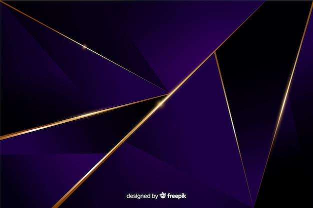 Fundo poligonal escuro elegante