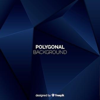 Fundo poligonal escuro realista