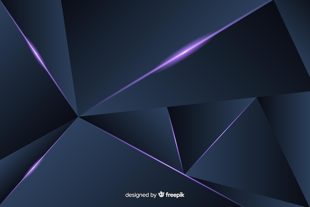 Fundo poligonal escuro triangular