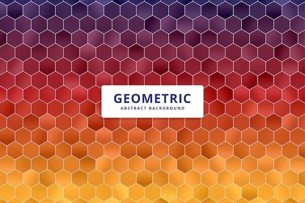 Fundo poligonal geométrico abstrato. forma de hexágono colorido.