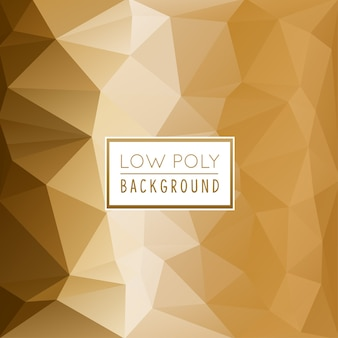 Fundo poligonal gold rose