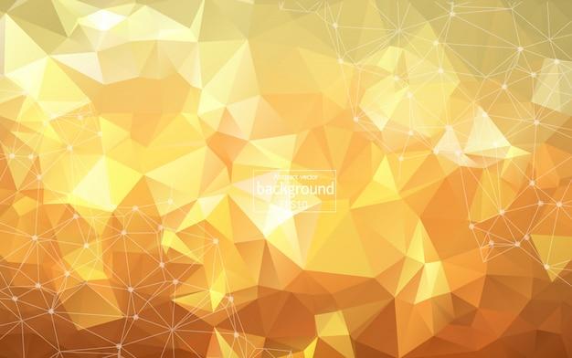 Fundo poligonal laranja geométrica