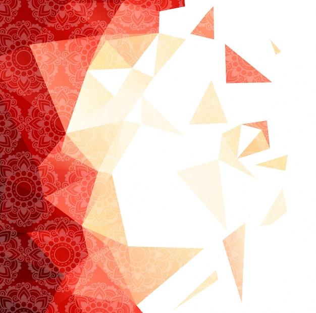 Fundo poligonal moderno