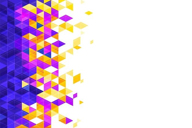 Fundo poligonal plano